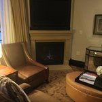 Two fireplaces in suite with Viking appliances and top accessories