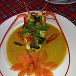 Krabi lobster with a thai red curry sauce