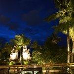ホテル敷地内夜景