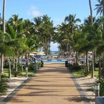 Walkway to the pool and beach