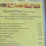 Lohans Menu - Sandwiches