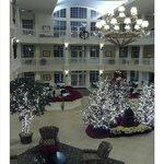 Hotel Lobby at Christmas