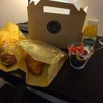 Breakfast delivered to the door