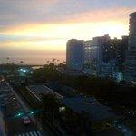 puesta de sol desde la habitacion