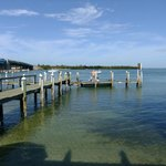 Dockside Dining on a Stool--the view