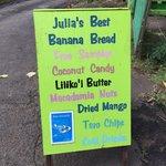 Julia's Banana Bread Sign