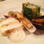 Steinbutt und Muscheln Le Gourmet