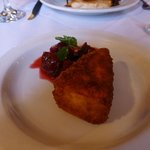 Deep fried Brie and berry compote