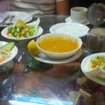 Starters at the Syrian Palace Resto