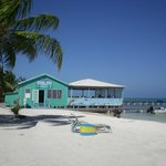 Only restaurant on Caye Caulker that is literally 'on' the water