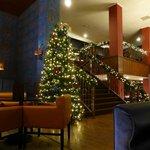 Lounge area with Christmas Tree