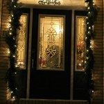 front door beautifully decorated