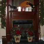 beautiful old fireplace with original glass