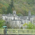 Close-up of Kylemore Abbey from parking lot