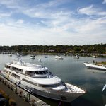 The beautiful Greenwich Harbor