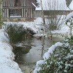 Le domaine de la Ferme de Fourges sous la neige