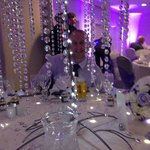 Having fun at the wedding breakfast in the Lakeside Suite