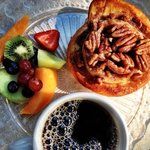 Vaneli's Coffee, Fresh Fruit & Pecan Sticky Bun