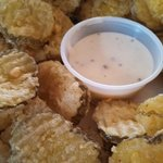 World Famous Fried Dill Pickle Chips & Ranch Dressing