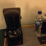 coffe maker, no coffee or condiments or cups