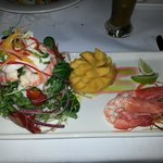 Lobster & Green mango salad