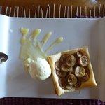 Tarte fine à la banane et glace vanille
