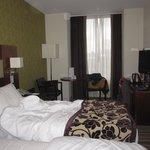 Onze kamer, met twee (zeer goede!) single bedden