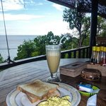 breakfast & view from restaurant