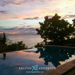 sunrise over the pool