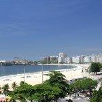 Linda vista de la playa de Copacabana