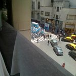 Street view of Av. Cordoba from 3rd floor restaurant (demonstration)