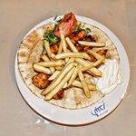 The shawarma dish