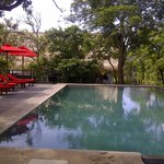 The relaxing pool terrace
