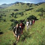 Hiking through the Chyulu Hills