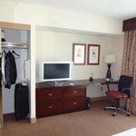 Tv on room + desk