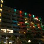 Vista a noite do Hotel