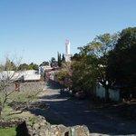 Vue sur le Barria Historico depuis les remparts, en direction de l'ouest et du phare