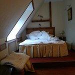 Кровать в номере Копенгаген