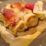 Cannelloni de langoustines et parmesan