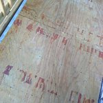 Plywood instead of treated deck lumber..dangerous - especially when wet and on upper level