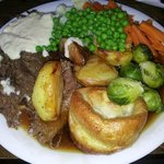 Very tender (melt in mouth) roast beef lunch