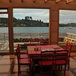 View from dining area, Palafito Patagonia Cafe and Art Gallery, Castro, Chiloe Island