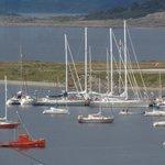 Barcos en la Bahia de Ushuaia