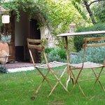 Sitting area in the lovely garden