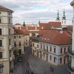 Vista desde la habitación. Tejados de Brno.