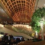 Hotel lobby area.