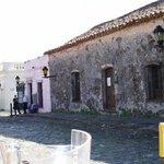 Vue sur l'Archivo Regional et le restaurant Pulperia de Los Faroles