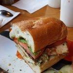 Amazing fresh mozzarella and chicken cutlet sandwich!
