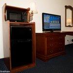 Microwave, Refrigerator & workdesk
