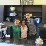 Paola, Susan, Joan (John), front office staff